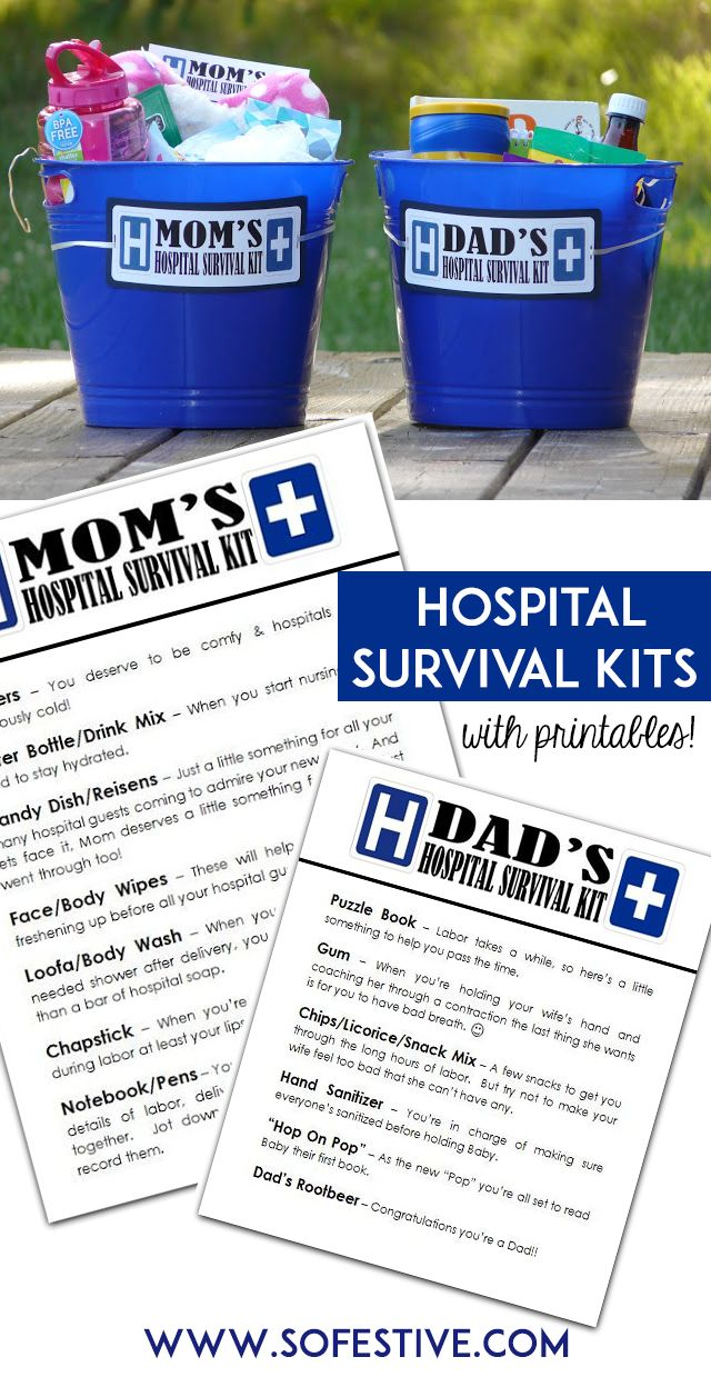 Put together these easy gifts for new moms and dads to take the hospital for their first baby. Not only cute, but you can get most things at a dollar store.