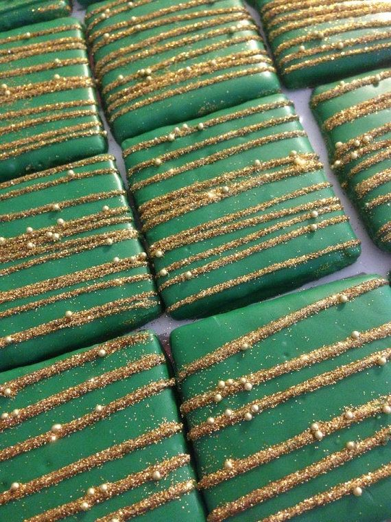 12 Chocolate Covered Graham Crackers by ChasingPinkFireFlies, $15.00 Glam Graham Chocolate Party Favors Wedding Favor Sweets Table Candy Buffet Mardi Gras