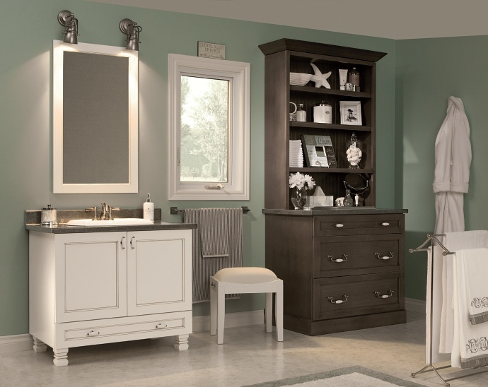 Image Gallery Website Contrasting colors set the stage in this Orchard Park bath Details create a mood and