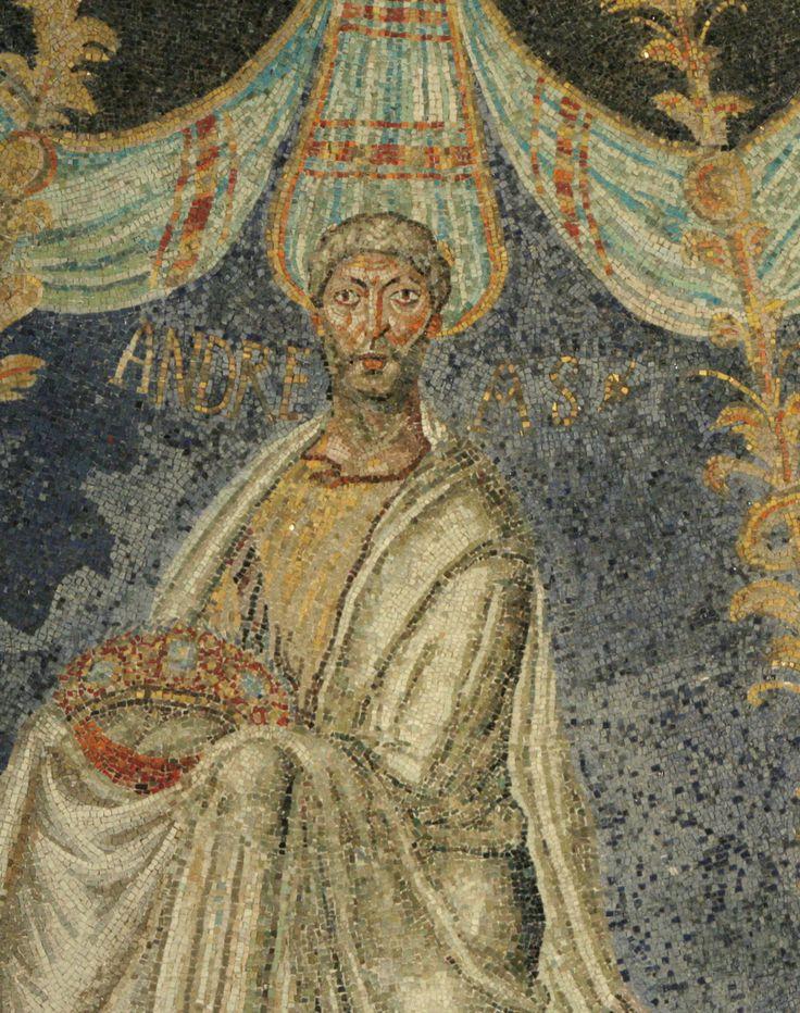 Battistero degli Ortodossi, Ravenna. I Mosaici del periodo del vescovo Neone. 450-475. Sant'Andrea