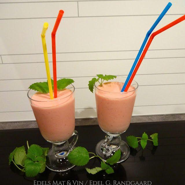 Edels Mat & Vin: Smoothie med yoghurt, jordbær og banan