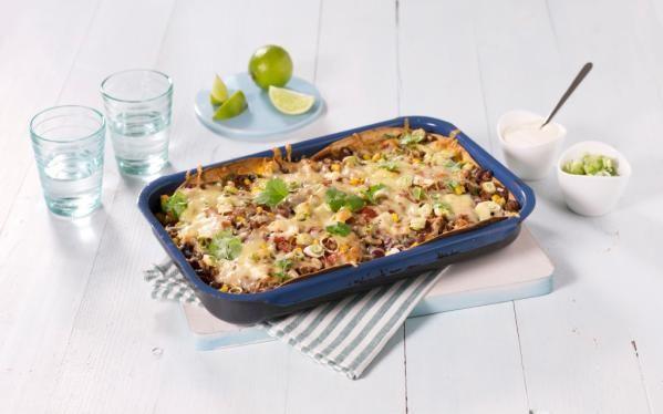 Oppskrift på Meksikansk lasagne, foto: