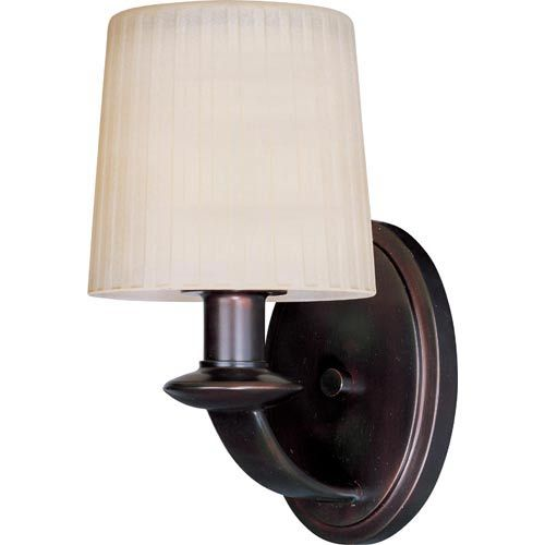 Finesse Oil Rubbed Bronze One Light Wall Sconce Maxim Lighting International 1 Light Armed