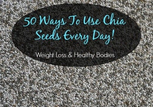 Black and white chia seeds are nutritious and can be eaten raw or cooked. Perfect for weight loss and can be incorporated into almost any food because they are tasteless. 50 ways to use chia seeds.