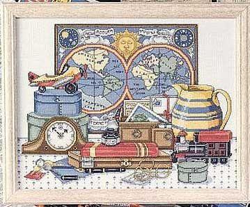 World map on the wall cross stitch pattern.  Gallery.ru / Фото #1 - Карта мира на стене - DELERJE