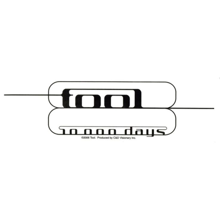 Tool - 10000 Days Clear Decal
