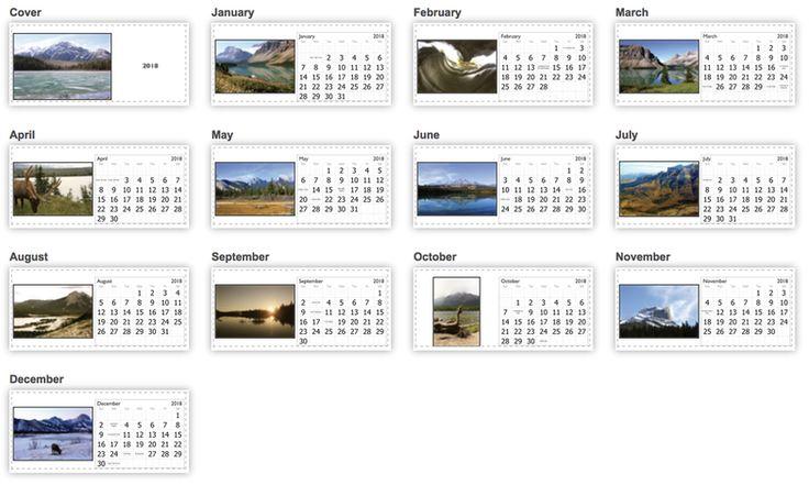 Western Canada Desk Calendar - For Sale