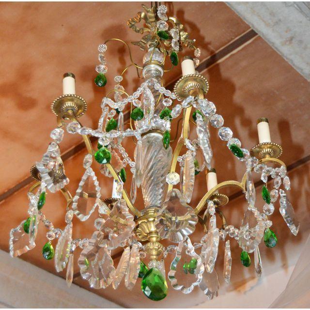 Vintage Neoclassical Parisian Bronze Chandelier Dining Room LightingBronze