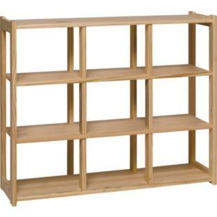 buy 9 compartment storage shelves pine at. Black Bedroom Furniture Sets. Home Design Ideas