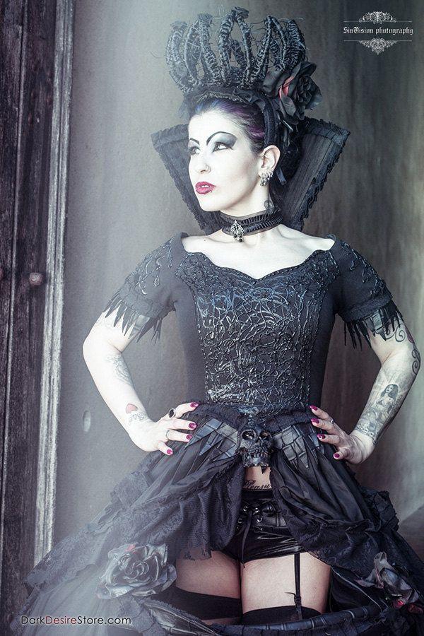 EVIL QUEEN, corset DRESS, gothic dress, gothic clothing, wild gothic dress, goth dress, witch dress, vampire costume, halloween, fantasy by DarkDesireStore on Etsy