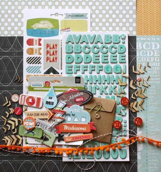March Mini Kit - Totally Rad! - $19.95 http://www.pollyscrap.com.au/kits/index.php?main_page=product_info=1_id=1094