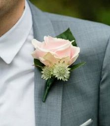 Sweet avalanche rose buttonhole