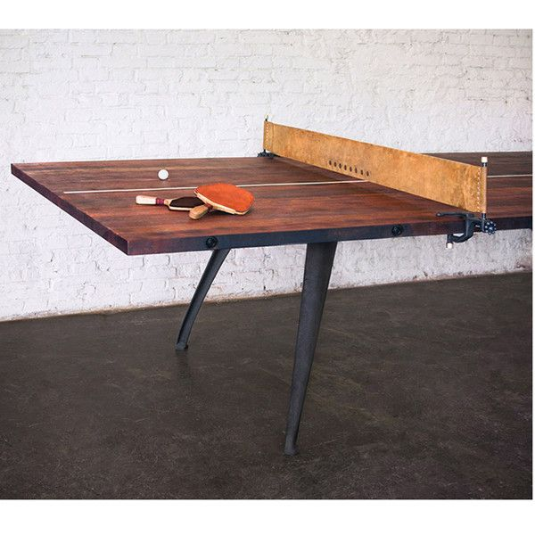Ping Pong Table Burnt Umber Wood Gaming Table
