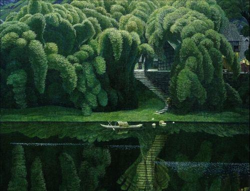 beautiful: Chong Min, Artists, Bottle Brush Trees, Real Life, Jian Chong, Bottle Trees, Bottle Brushes Trees, Landscape Paintings, China