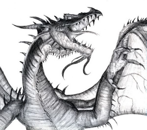 The Dragon Drawing  - 10  Cool Dragon Drawings for Inspiration, http://hative.com/dragon-drawings/,