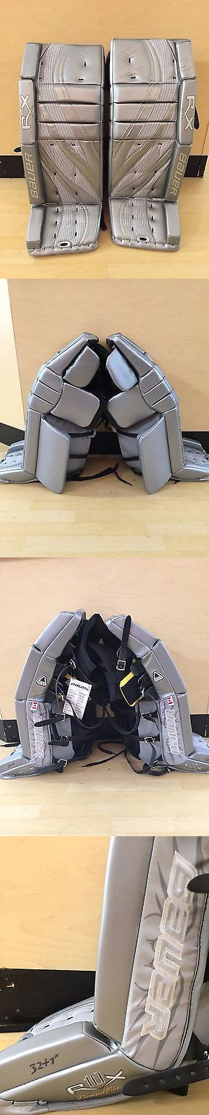 Leg Pads 79764: Bauer Reflex Rx10 Goalie Pads (Limited Edition Silver Black, 32+1 ) -> BUY IT NOW ONLY: $500 on eBay!
