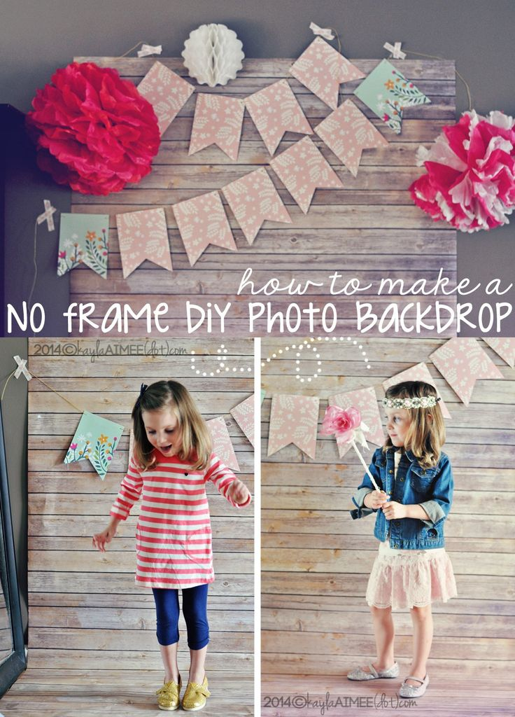 How To: Make An Easy + Inexpensive DIY Photo Backdrop (without a frame or clamps!)