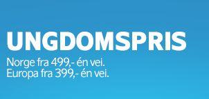 Norge fra 499,- én vei!