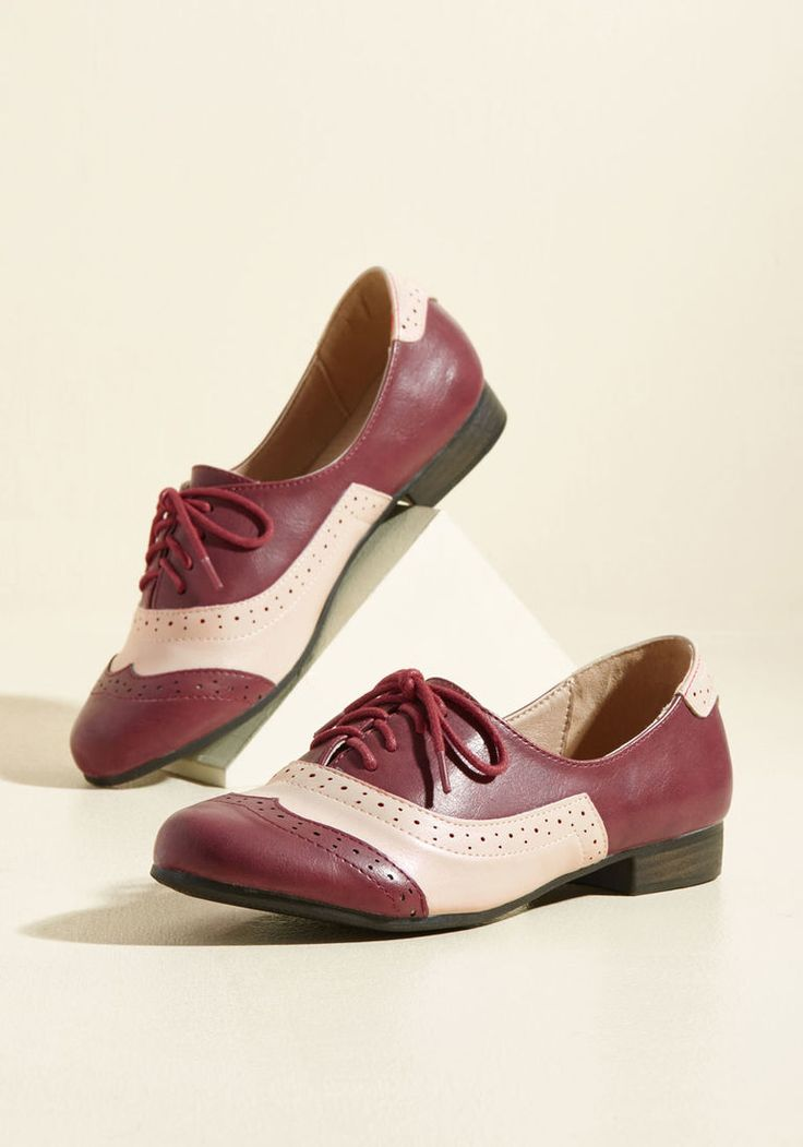 1950s Style Shoes Lead the Play Oxford Flat in 39 - Flat - 0-1