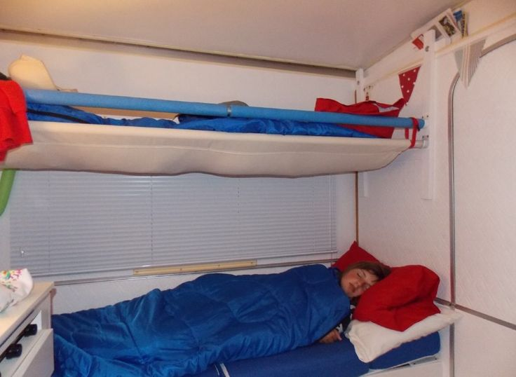 Export caravan bunk bed esterel folding caravans pinterest pump hams and originals - Nachtkastje voor loftbed ...