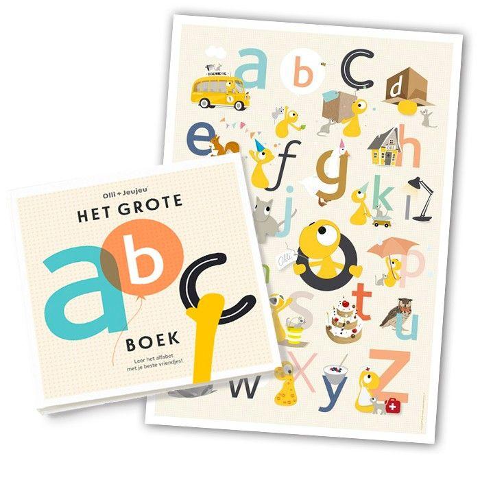 Olli + Jeujeu | ABC boek + poster | De leukste kinderwinkel voor kleine wijsneuzen