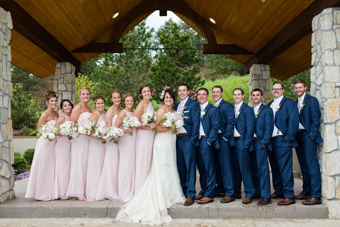 Bridal Party | #MaggieBride Mary wore Emma by Maggie Sottero at her Blush and Gold Colorado Wedding | Katie Corrine Photography
