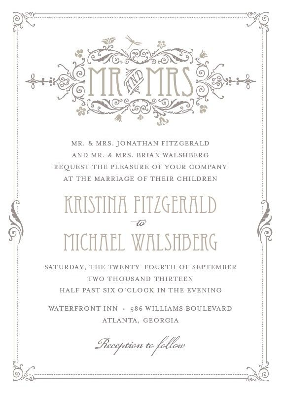 Best  Art Deco Wedding Invitations Ideas On   Deco