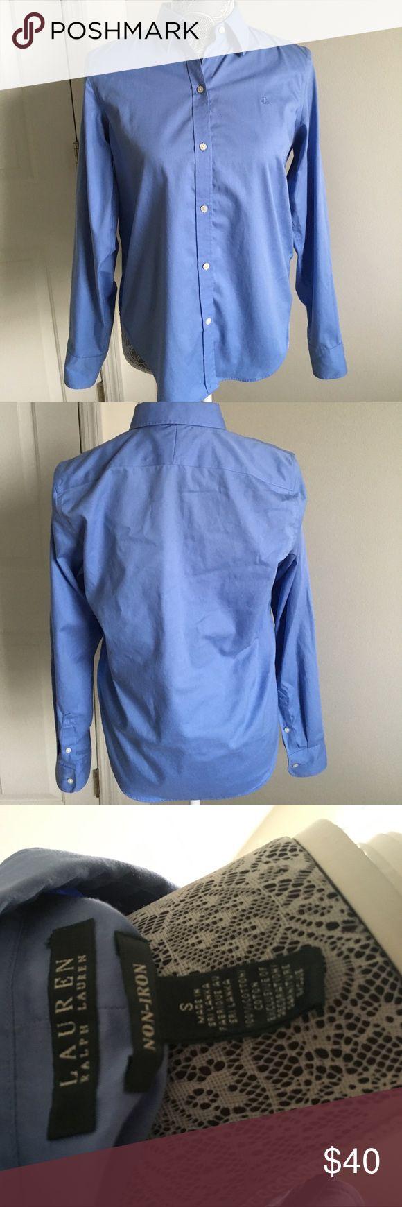 Ralp Lauren non-iron like new blue shirt Like new. Great condition. Non -iron. Ralph Lauren Tops Button Down Shirts