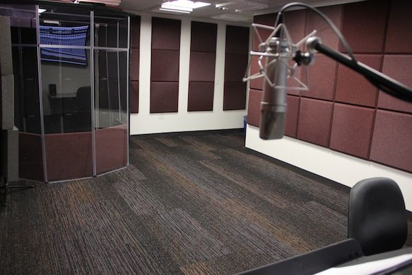 Television Film Media Center California State Room Los Center Film Mixing Open Calstatela State Angeles California U In 2020 Audio Room Media Center Tile Floor