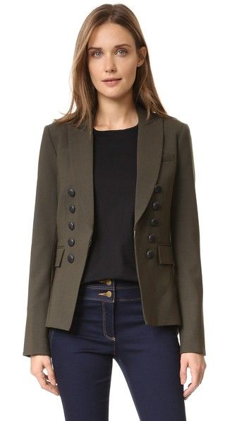 Love the buttons and the color. Veronica Beard Blazer