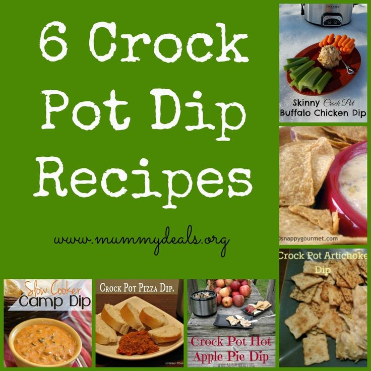 6 Crock Pot Dip Recipes