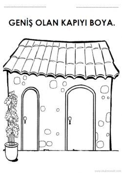 Geniş Dar Kavramı Çalışma Sayfası. Free wide and narrow worksheets download printable. Широкий узкий рабочий лист. Hoja de trabajo de concepto estrecho ancho
