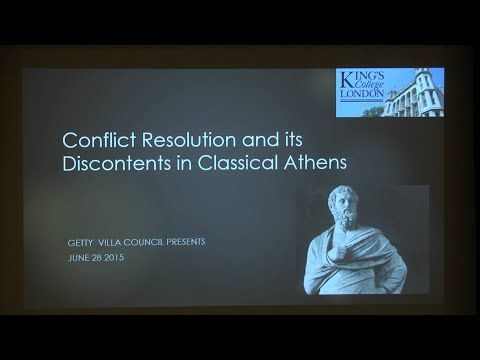Edith Hall on the challenges of conflict resolution in classical Athens - YouTube