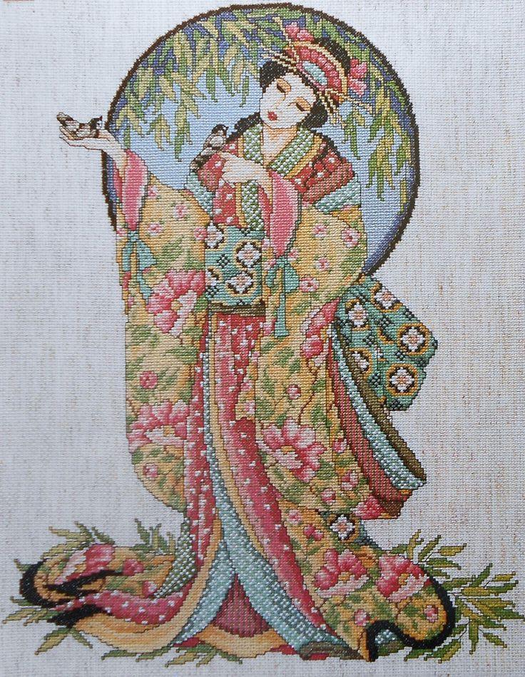 asian cross stitch patterns