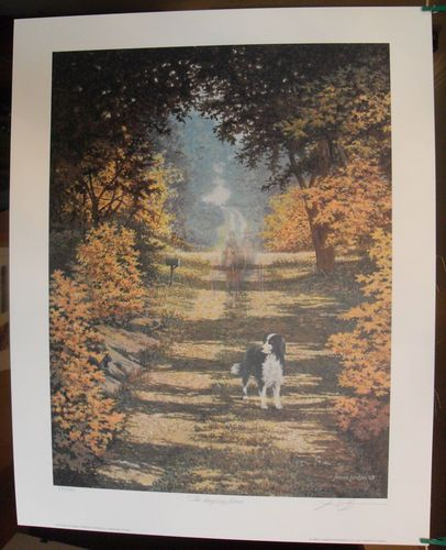 $129.99  James Lumbers THE Long WAY Home Signed Limited Edition Print   eBay #dog #pets #walldecor