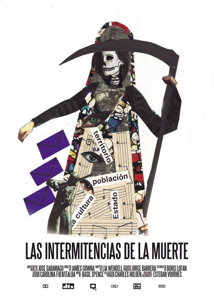 """Proyecto afiche """"Las Intermitencias de la Muerte"""". Esteban Barriga."""