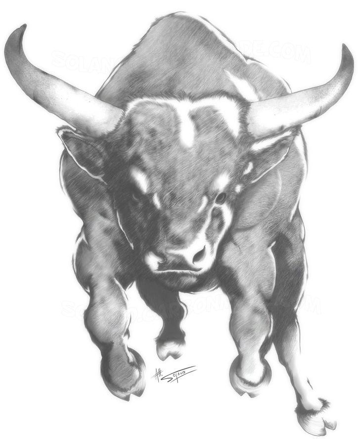 ... bull tattoo on halfsleeve running bull tattoo for men running bull