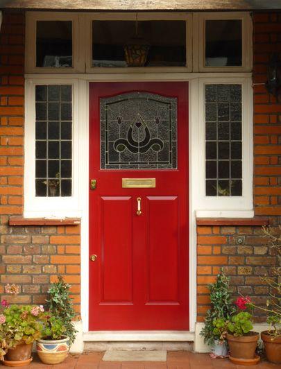 Red twenties front door by the London Door Company