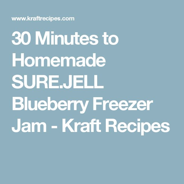 30 Minutes to Homemade SURE.JELL Blueberry Freezer Jam - Kraft Recipes
