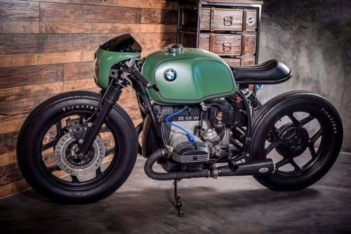 """BMW R Cafe Racer """"Greenlight Racer"""" by K-Speed Shop #motorcycles #caferacer #motos 