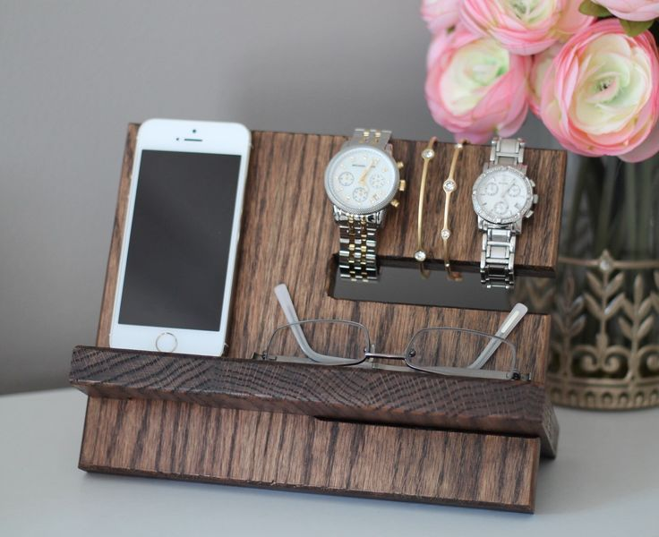 Oak Wood Valet iphone Galaxy Charging Stand Nightstand Dock by pinkofperfect on Etsy https://www.etsy.com/listing/235184443/oak-wood-valet-iphone-galaxy-charging