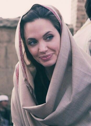 Angelina Jolie who is fighting for the poor and disadvantaged in the world and holding World Leaders to account for failing to lead as they should.