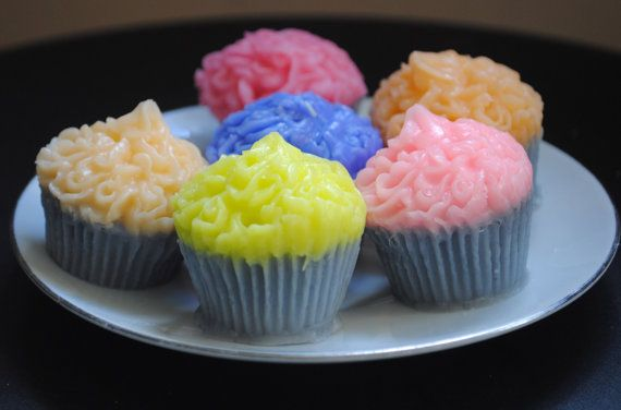 3 x Mini Muffin Soaps   Muffin parody  birthday gift by NerdySoap