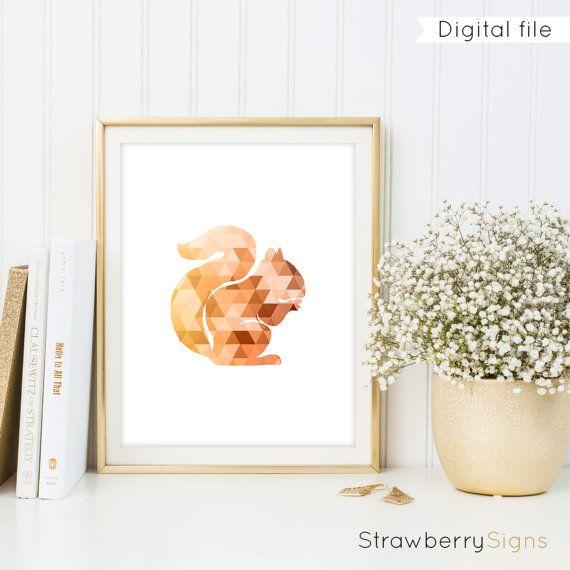 Eichhörnchen zu drucken digital bedruckbar von StrawberrySigns