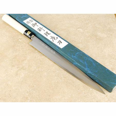 Kitaoka 270mm Yanagiba Blue #2. Ook te bestellen op www.japansemessen.nl