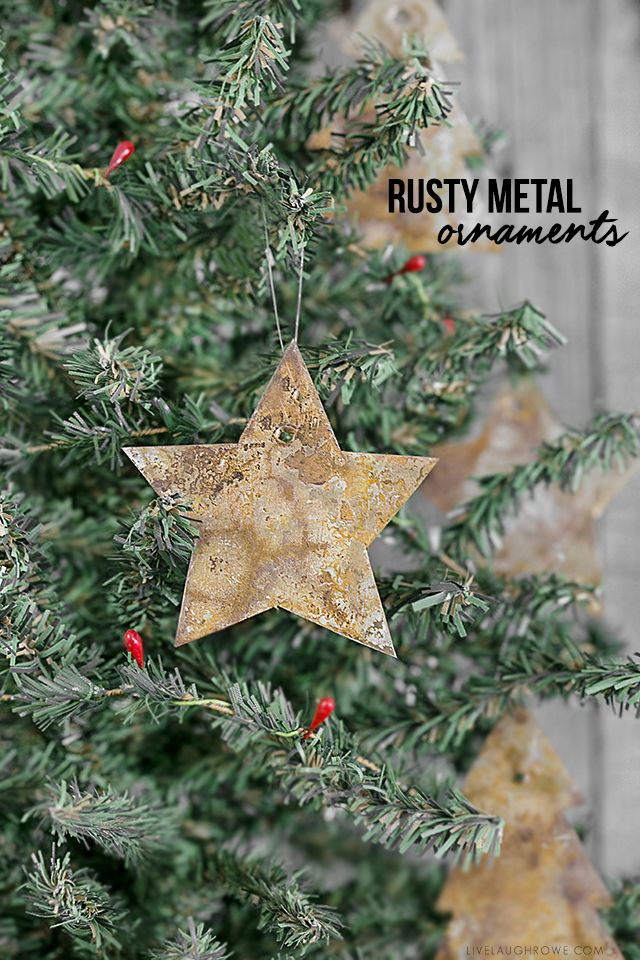 Diy Rusty Metal Ornaments If You Love The Rusty Chippy Look These Ornam Diy Christmas Tree Ornaments Christmas Ornaments To Make Christmas Ornament Crafts