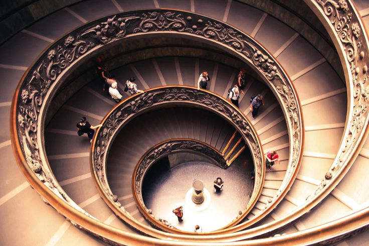 Spiral stairs of the Vatican Museums by Dhruv Mishra on 500px