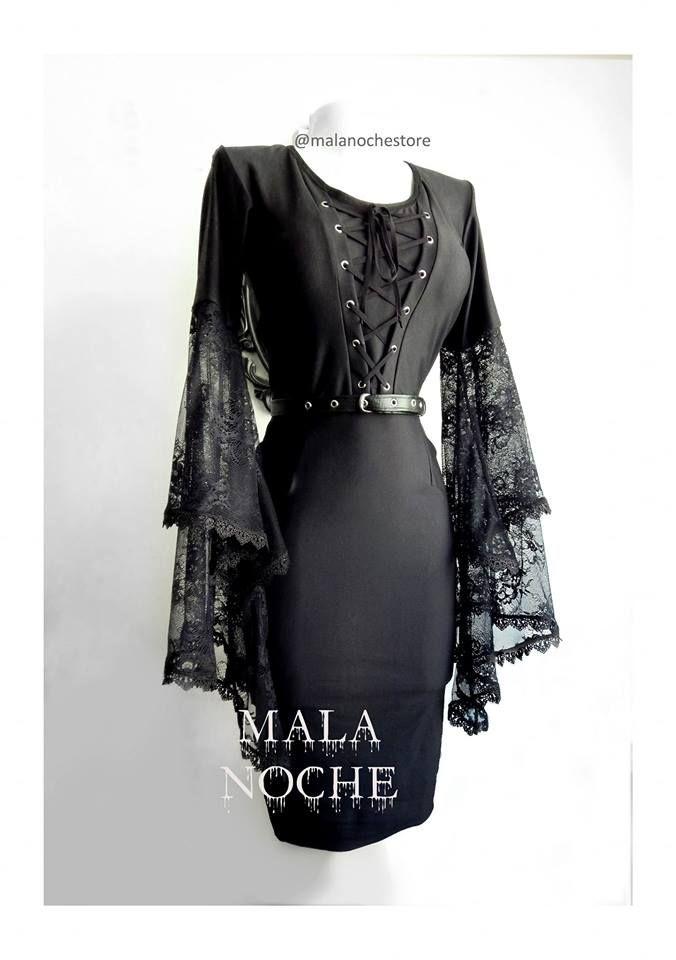 Vestido Dress MORGANA💀 100%Mala Noche - Xs, S, M, L, xl -cinturón ... 23ec989993