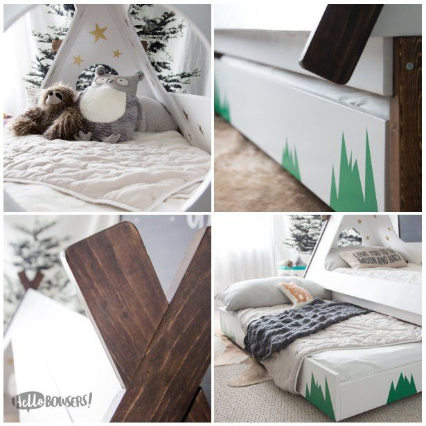 While perusing Pinterest one day, I came across a beautiful toddler teepee bed with pull out trundle that I knew would be perfect for my son. My inner child scr…