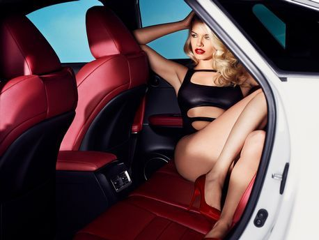 Sports Illustrated model Hailey Clauson appears in these new ads for Lexus cars